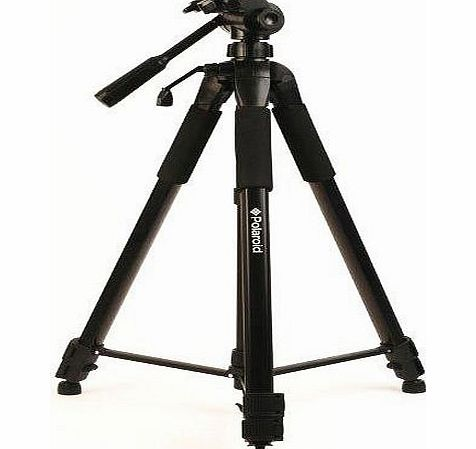 Polaroid PLTRI57 145 cm Tripod with Carrying Case for Digital Cameras and Camcorders