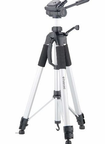 Polaroid PLTRI72 184 cm Tripod with Extra Quick-Release Plate and Carrying Case for Digital Cameras and Camcorders - Silver