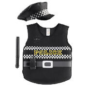 STOP! You?re under arrest. Now you can catch and arrest the bad guys in this cool Police Tabard dress up outfit! With everything you need including a vest, baton, radio and hat you?ll always look the part when patrolling the streets. One size fits al - CLICK FOR MORE INFORMATION
