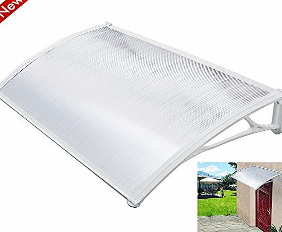Popamazing Outdoor Cover Door Window Garden Canopy Patio Porch Awning Shelter - Multiple Size amp; Colour (White, 120*75cm)
