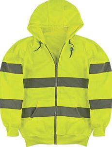 Portwest, 1228[^]6475G Hi-Vis Hoodie Yellow Large 49½`` Chest