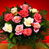 Celebrate Summer with this joyful bouquet of 24 Peach & Cream Roses! This beautiful bouquet - CLICK FOR MORE INFORMATION