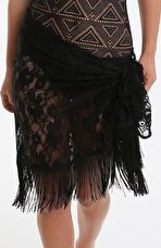 Pour Moi, 1295[^]265503 All About The Lace Sarong - Black