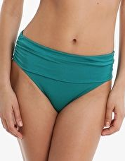 Pour Moi, 1295[^]265592 Azure Fold Over Ruched Pant - Emerald