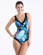 Pour Moi Sorento Control Swimsuit - Blue and Black product image