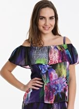 Pour Moi, 1295[^]264522 Tiger Lily Gypsy Top - Purple Multi