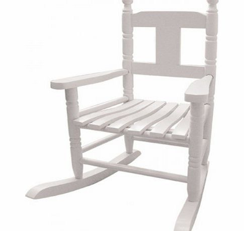 Powell Craft Childs Rocking Chair in White product image