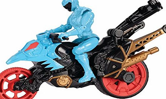 Power Rangers Dino Supercharge Stunt Bike Cycle and Figure (Cyan)