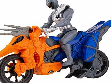 Power Rangers Dino Supercharge Stunt Bike Cycle and Figure (Grey)