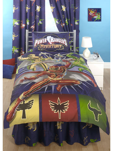 Set Power Rangers Single Duvet Cover and Pillowcase Set Bedding