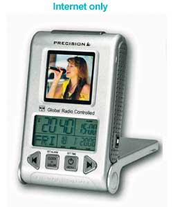 precision Global Travel Alarm with Digital Photo Frame product image