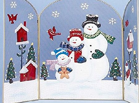 Premier Decorations *HIGH QUALITY* CHRISTMAS FIREPLACE GUARDS SURROUND 3 XMAS designs - DECORATIONS - CHILD SAFE - SNOWMAN
