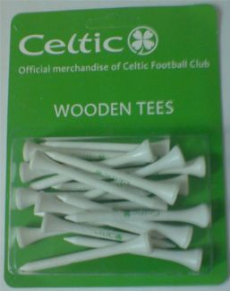 CELTIC FC WOODEN TEES 70MM