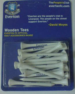 EVERTON FC WOODEN TEES 70MM