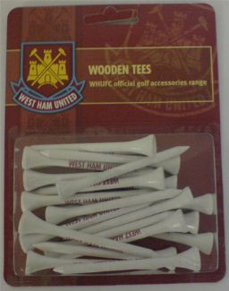 WEST HAM UNITED FC WOODEN TEES 70MM