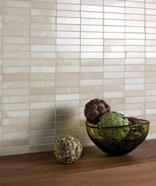 Stone Latte Marble Linear Mosaic