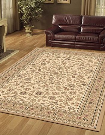 Preston Rugs Traditional Rug Oriental Persian Polypropylene 120 x 170 cm (4 x 57``) Machine Made Beige product image