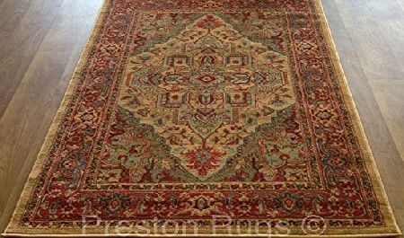 Preston Rugs Traditional Rug Oriental Persian Polypropylene 160 x 230 cm (53`` x 77``) Machine Made Beige product image