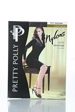 Pretty Polly Ladies 1 Pair Pretty Polly Nylons - Stockings In 3 Colours Sherry product image