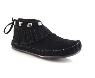 Priceless Ankle Boot With Fringe Trim