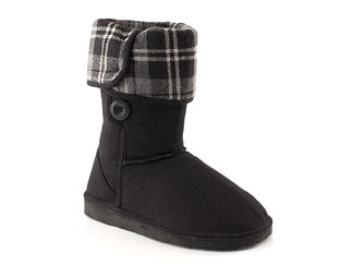 Priceless Mid High Boot With Check Print