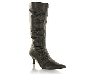 Priceless Mid High Boot With Ruche Detail