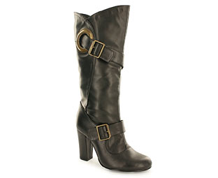 Priceless Trendy Double Buckle Mid High Boot