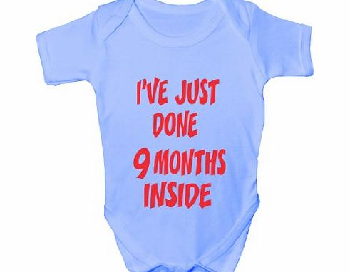 Print4U Ive Done 9 Months ~Funny Babygrow~Babies Gift Boy/Girl Vest Babies Clothing 0-3 blue