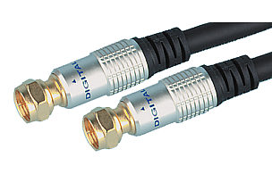 A high quality 2m F type cable for connecting to t - CLICK FOR MORE INFORMATION