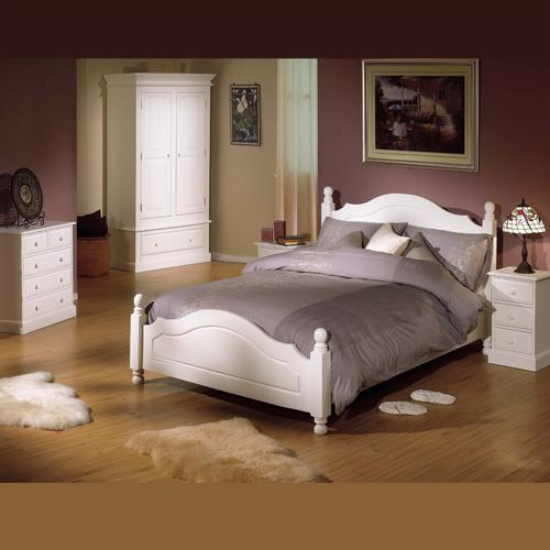 Provence Painted White Bedroom Furniture Bedside Cabinets