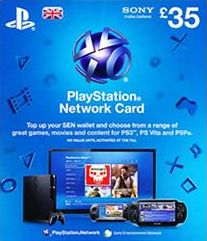 PSN-SCEE, 1559[^]30106-DIGITAL Playstation Network Live Card Ã'£35 (UK Only)
