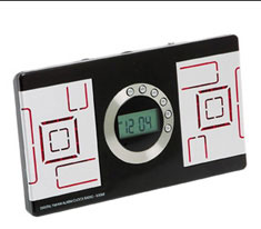 Digital Alarm Clock Black