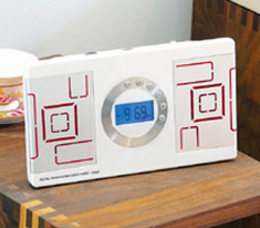 Digital Alarm Clock White