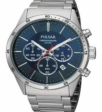Pulsar Mens Blue Dial Chronograph Sports Watch product image