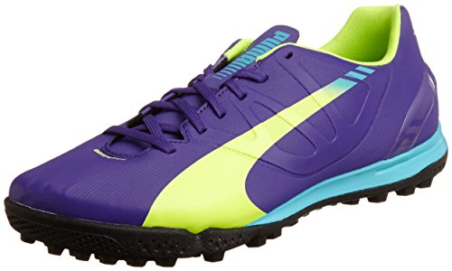 Puma Evospeed 4.3 Tt, Men Football Boots, Purple (Prism Violet Fluro Yellow Scuba Blue 01), 11 UK (46 EU) product image