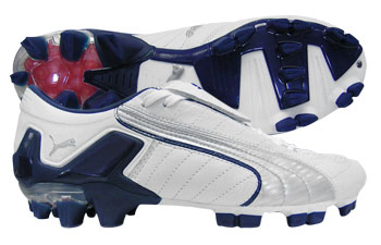 Puma Football Boots Puma V-Konstrukt FG Football Boots White/Silver/Blue product image