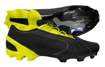 Puma Football Boots Puma V1-06K Leather FG Football Boots Black / Yellow product image