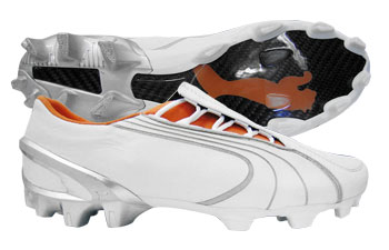 Puma Football Boots Puma V1-06K Leather FG Football Boots White / Orange product image