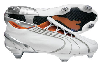 Puma Football Boots Puma V1-06K Leather SG Football Boots White / Orange product image
