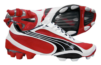 Puma Football Boots Puma V1-08 FG Football Boots Red / White / Black product image