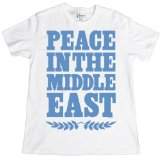 PEACE IN THE MIDDLE EAST T-Shirt, White, S