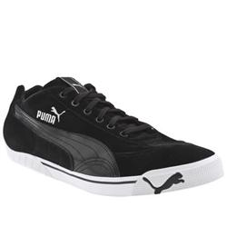 044883a36d9 Male Speed Cat 2.9 Winter Suede Upper Fashion Trainers in Black and White