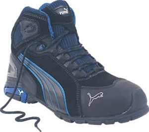 Puma, 1228[^]6510H Rio Mid Safety Trainer Boots Black Size 10