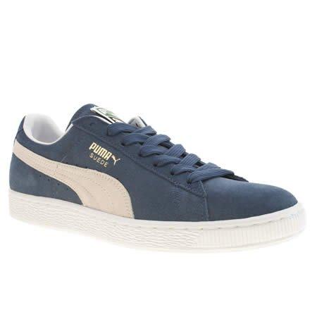 31e5dbeb88a puma shoes mens puma suede classic 11 uk navy and white suede