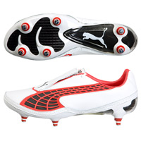 Puma v1.10 K Soft Ground - White/Black/Red. product image