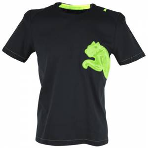 Black/Fluorescent Puma v3.08 Tricks Polyester Cat T-shirt in Black