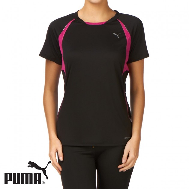Puma Womens Puma Running T-Shirt - Black product image