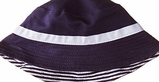Baby Boys 0-24M Reversible Bucket Hat, Black (Eclipse), 3-6 Months (Manufacturer Size:Small)