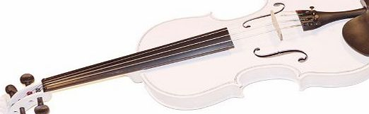 White Full Size Violin 4/4 + Zipper Carry Case + Bow Learning /Teach Music Instrument Handmade Set