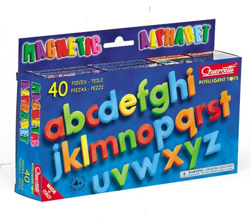 Quercetti Magnetic Alphabet Lower Case 40 Pieces